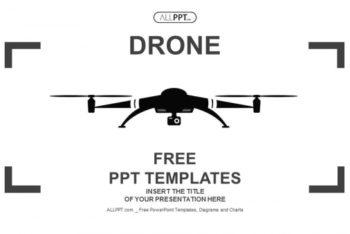 Free Minimalist Surveillance Drone Powerpoint Template