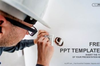 Free Expert Electrician Concept Powerpoint Template