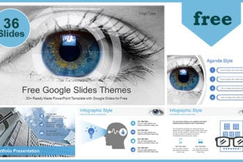 Free Modern Ophthalmology Concept Powerpoint Template