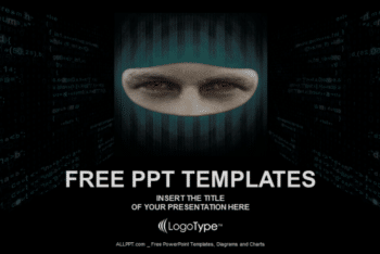 Free Face Hacker Concept Powerpoint Template