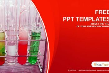 Free Colorful Chemical Flasks Powerpoint Template