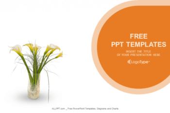 Free Beautiful Flower Vase Powerpoint Template