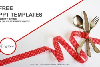 Free Fine Dining Utensils Powerpoint Template