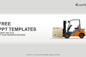 Free Logistics Forklift Warehouse Powerpoint Template