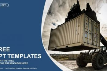 Free Forklift Shipping Logistics Powerpoint Template