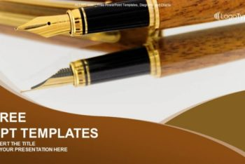 Free Business Fountain Pen Powerpoint Template