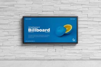 Wall Billboard PSD Mockup for Designing Outdoor Billboard Advertising