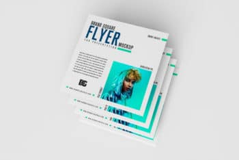 Square Flyer PSD Mockup for Free