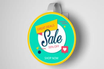New Wobbler PSD Mockup for Effective Branding Purposes