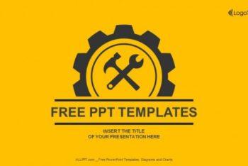 Free Handy Gear Logo Powerpoint Template