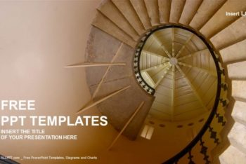 Free Awesome Spiral Staircase Powerpoint Template
