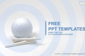 Free Golf Ball Plus Tees Powerpoint Template