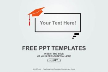 Free Graduation Cap Concept Powerpoint Template