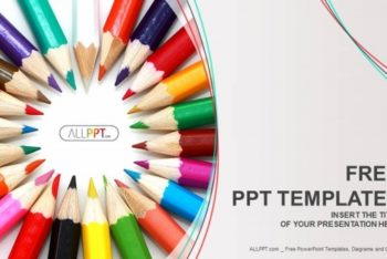 Free Colored Pencil Assortment Powerpoint Template