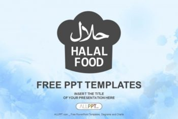 Free Halal Food Concept Powerpoint Template