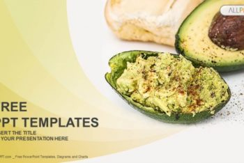 Free Tasty Avocado Meal Powerpoint Template