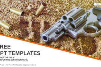Free Handgun Plus Bullets Powerpoint Template