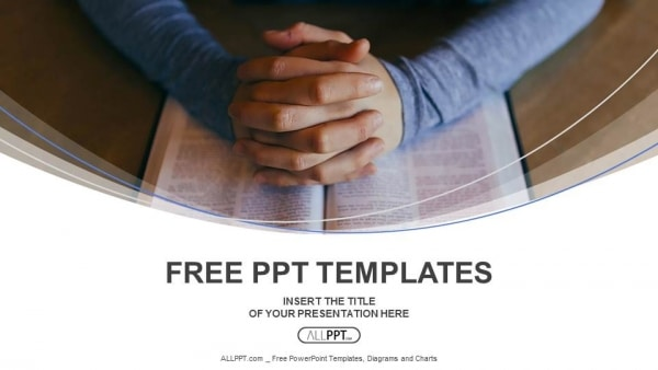 Hands-of-are-folded-in-prayer-over-the-book-PowerPoint-Templates-1 One Page Template Bootstrap Personal on how use, list crud actions, login page, grid layout,
