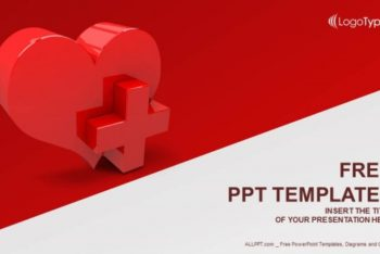 Free Medical Heart Sign Powerpoint Template