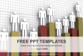 Free Human Business Graph Powerpoint Template