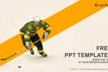 Free Ice Hockey Player Concept Powerpoint Template