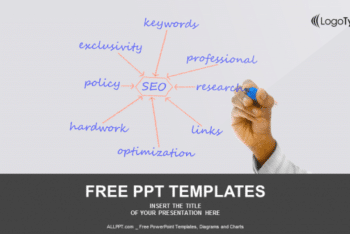 Free Internet Keyword SEO Map Powerpoint Template