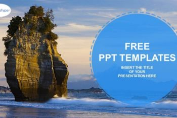 Free Natural Rock Landscape Powerpoint Template