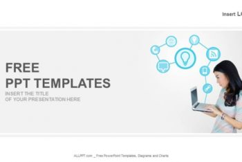 Free Technological Laptop Concept Powerpoint Template