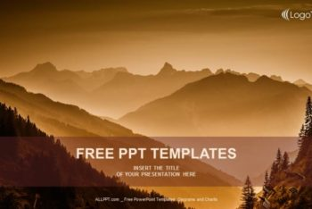 Free Mystical Mountain Layers Powerpoint Template