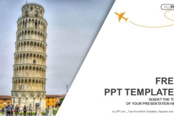 Free Italy Leaning Tower Powerpoint Template