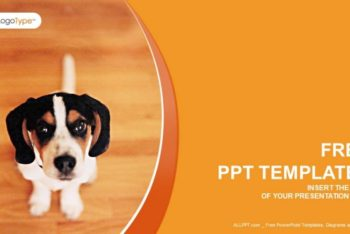 Free Cute Puppy Concept Powerpoint Template