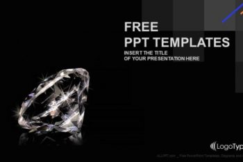 Free Shiny Luxurious Diamond Powerpoint Template