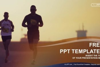 Free City Marathon Runners Powerpoint Template