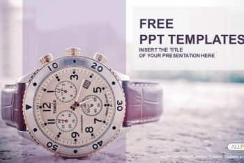 Free Elegant Mens Watch Powerpoint Template