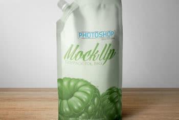 Useful Milk Bag Packaging PSD Mockup