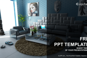 Free Modern Home Interior Powerpoint Template