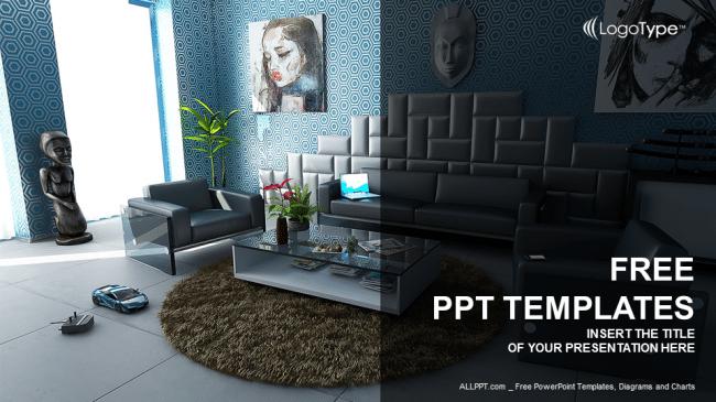 Free Modern Home Interior Powerpoint Template Designhooks