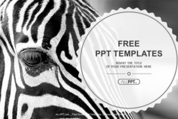 Free Monochrome Zebra Art Powerpoint Template