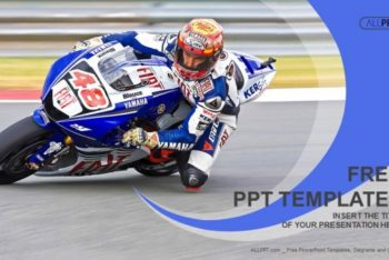 Free High Speed Motorcycle Powerpoint Template