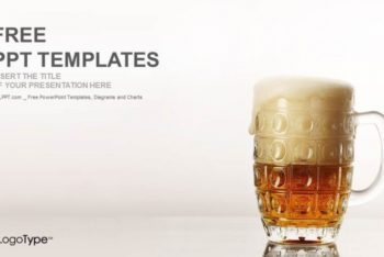 Free Bubbly Beer Mug Powerpoint Template