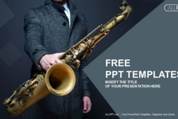 Free Jazz Musician Saxophone Powerpoint Template