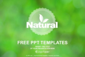 Free Organic Natural Products Powerpoint Template