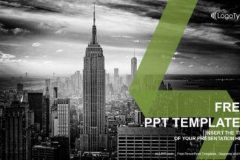 Free New York Skyline Powerpoint Template