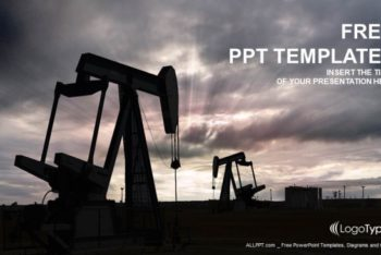 Free Oil Pump Jack Powerpoint Template