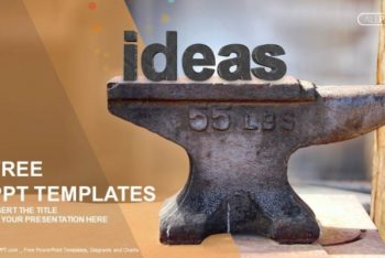 Free Heavy Anvil Plus Old Ideas Powerpoint Template