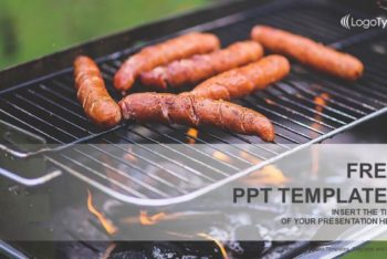 Free Outdoor Barbecue Concept Powerpoint Template