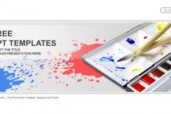Free Colorful Painting Palette Powerpoint Template