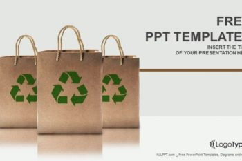 Free Recycled Paper Bags Powerpoint Template
