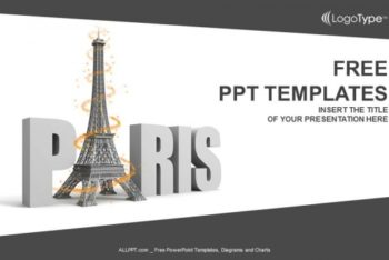 Free Paris Eiffel Tower Powerpoint Template