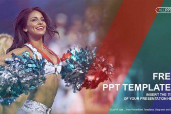 Free Lovely Cheerleader Portrait Powerpoint Template